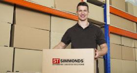 Man holding a cardboard box
