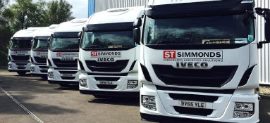 Simmonds Transport vehicles parked up